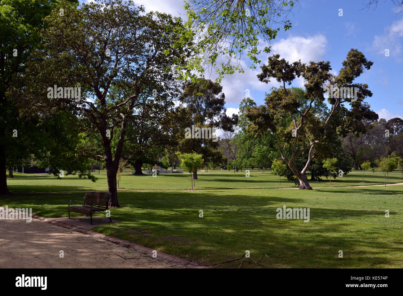 The view around Royal Botanic Garden, Melbourne, Australia. Pic was taken in September 2016. Stock Photo