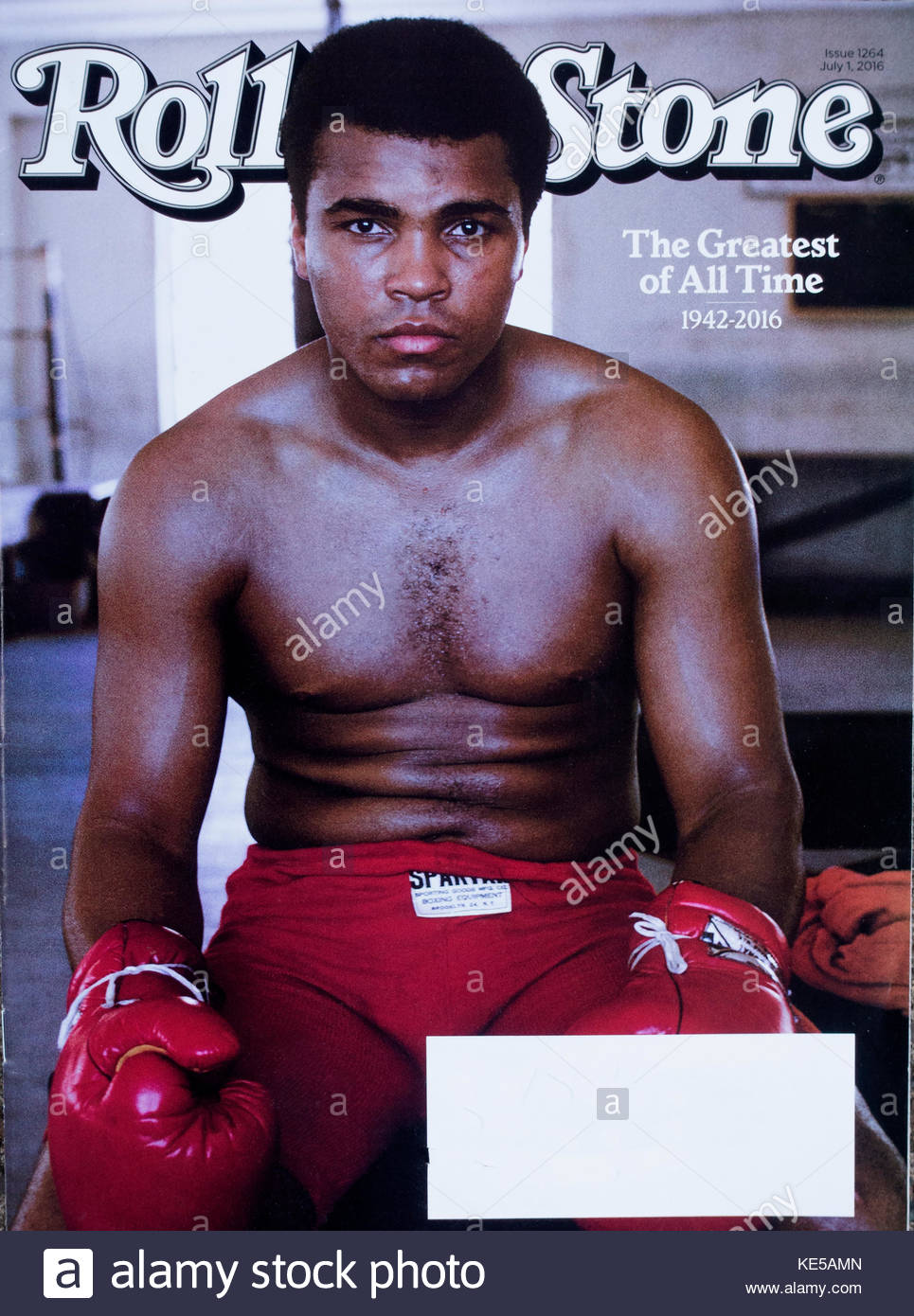 muhammad ali on the july 1st cover of rolling stone magazine stock