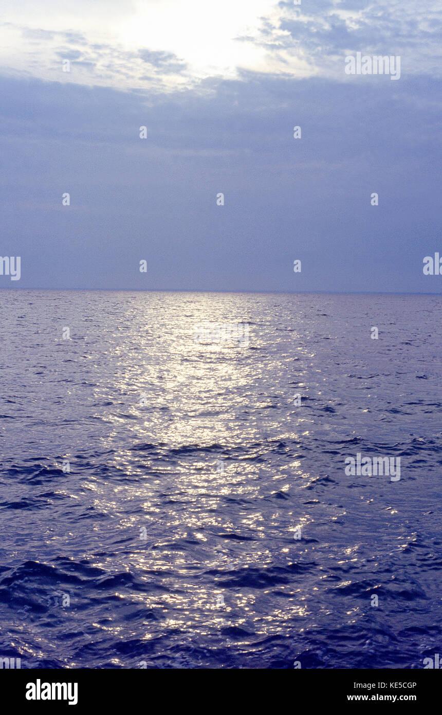 Sea and sky. Mediterranean sea, Murcia, Spain. - Stock Image