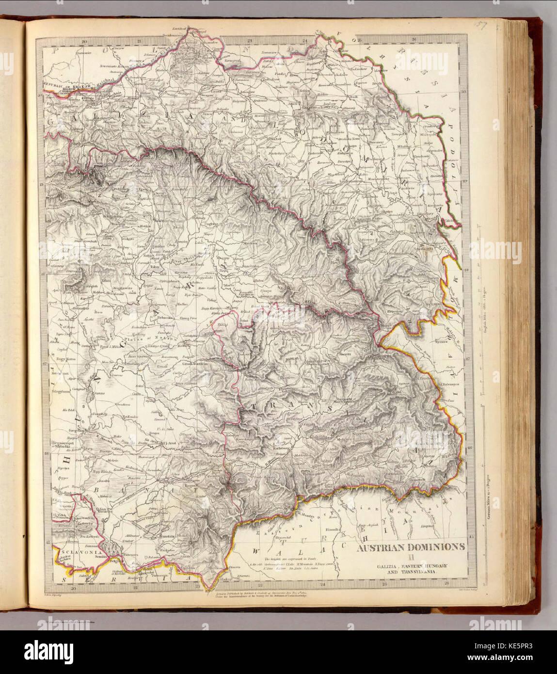 Austrian Dominions Galicia,Eastern Hungary, Transylvania