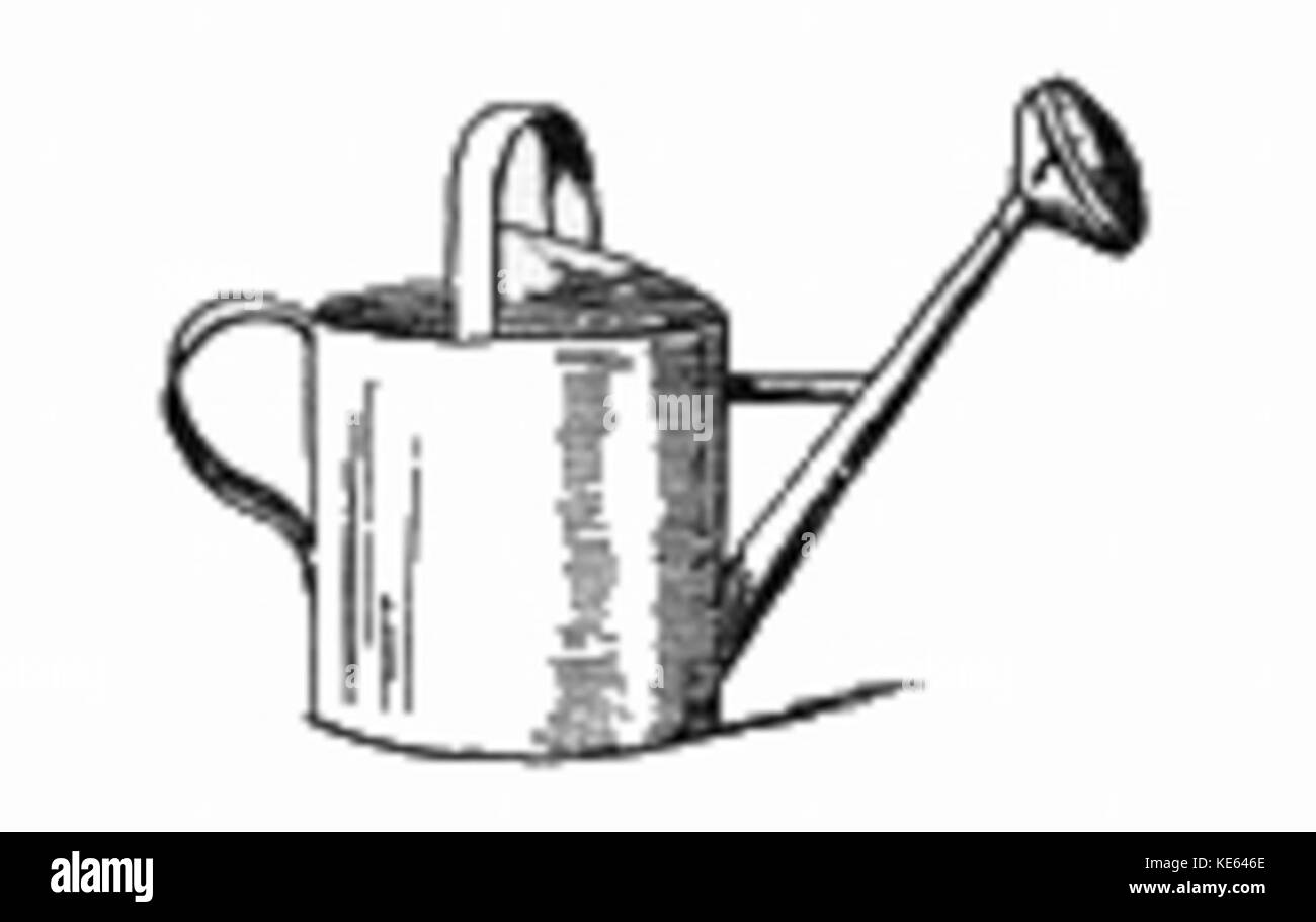 Watering Can Drawing Stock Photo