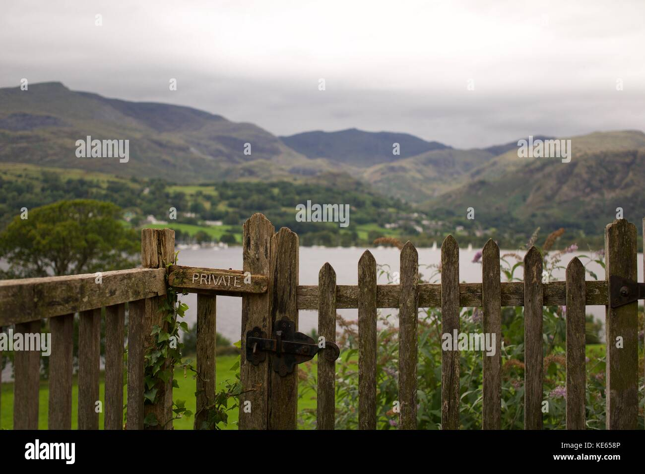 View from Brantwood - Stock Image