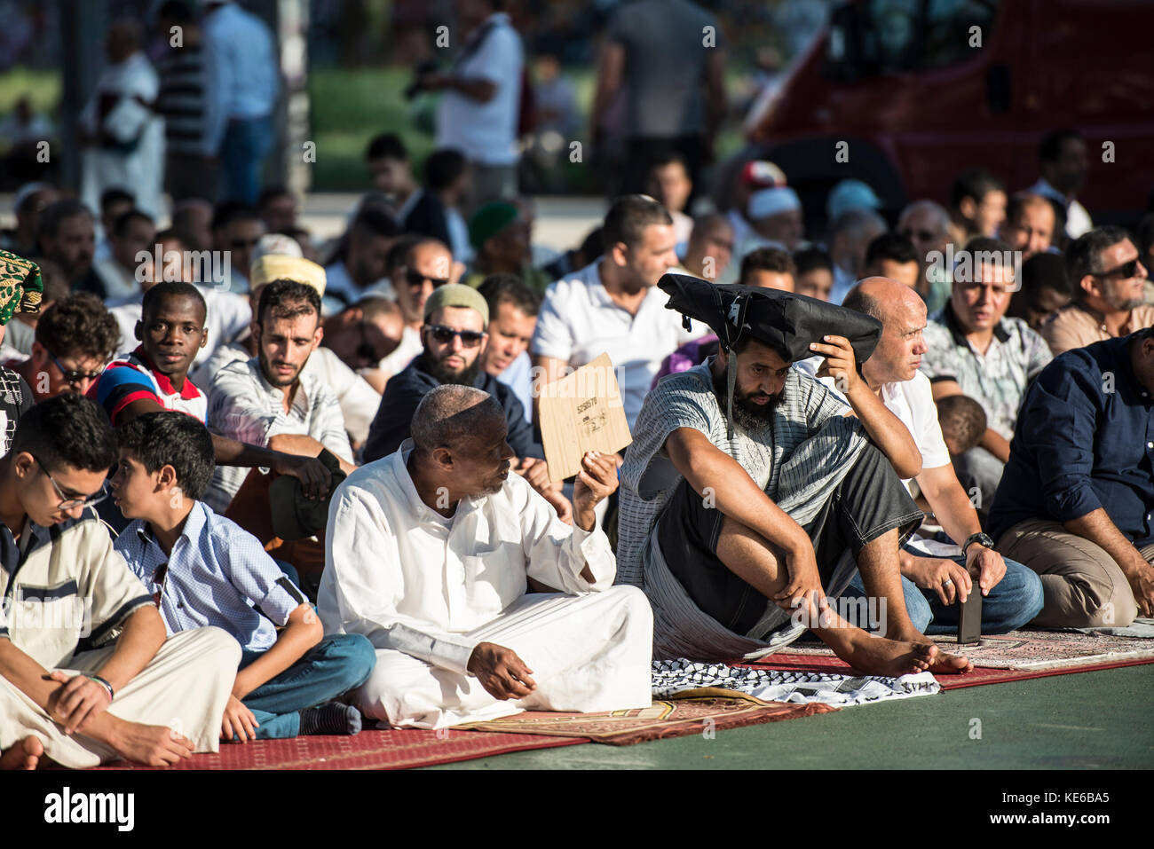 Turin, Italy - September 1, 2017: Islamic Sacrifice Festival at Dora Park in Turin, Italy Stock Photo