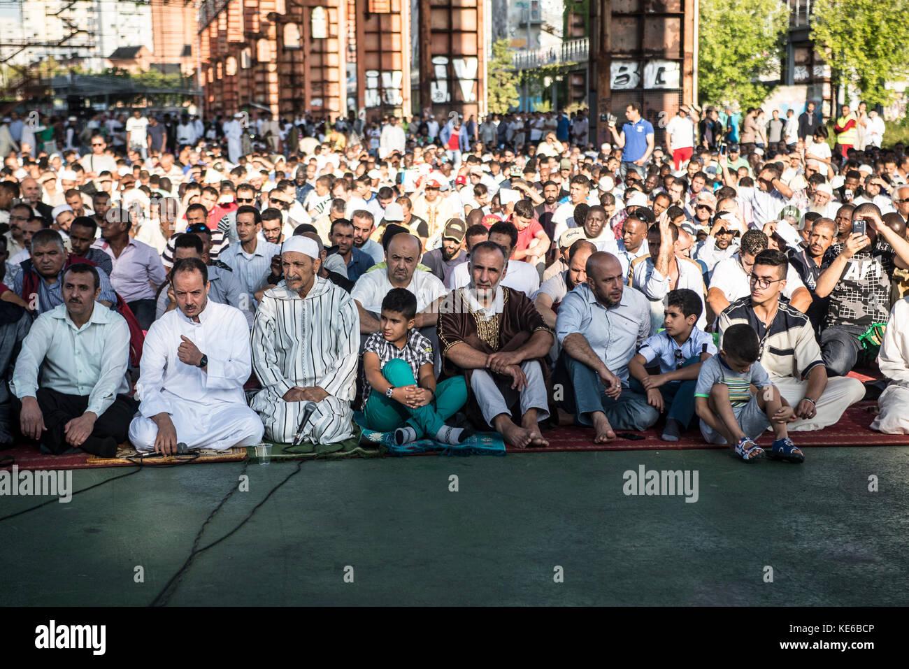 Turin, Italy - September 1, 2017: Islamic Sacrifice Festival at Dora Park in Turin, Italy Stock Photo