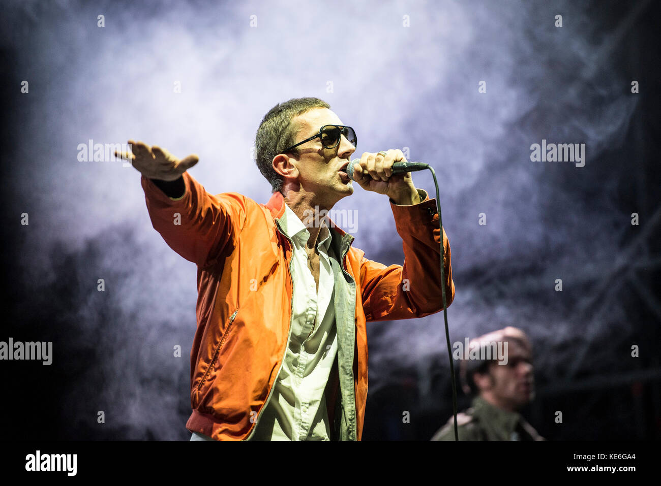 Turin,Italy-August 26, 2017: Richard Ashcroft performs live at the Todays festival on August 26, 2017 in Turin, Stock Photo