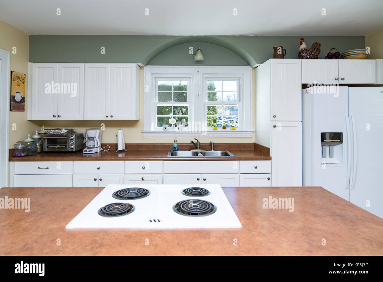 Kitchen interior of middle class American home in Kentucky USA Stock ...