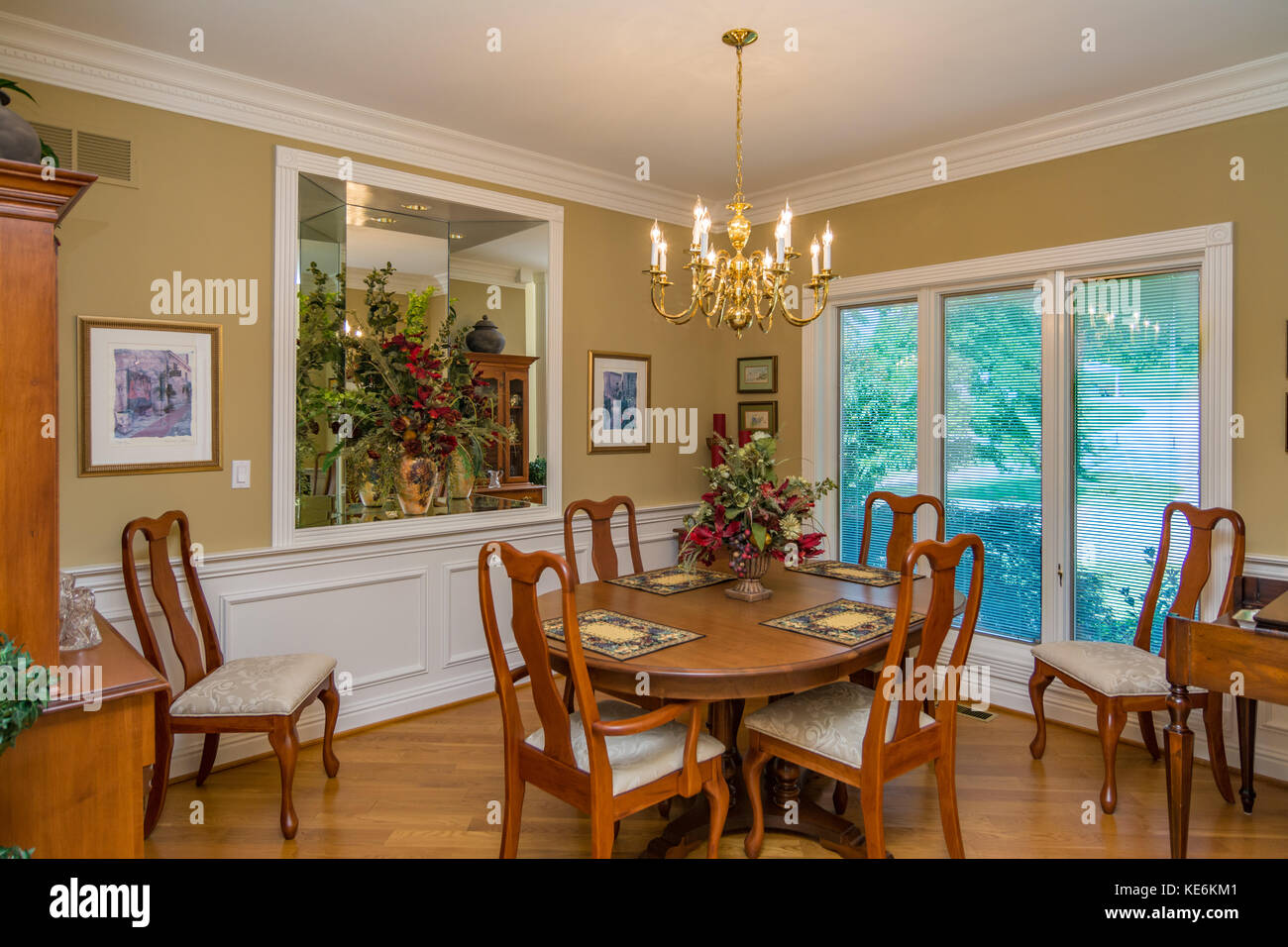 Middle Class Home Interior Dining High Resolution Stock Photography And Images Alamy