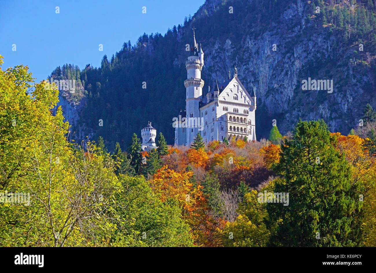 Neuschwanstein Castle - Stock Image