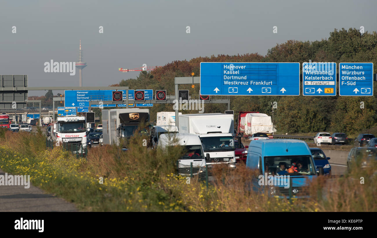Stau A5 Richtung Kassel