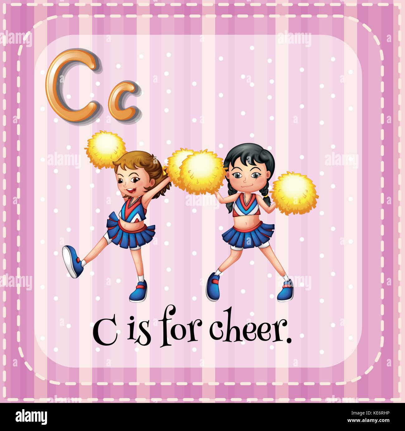 Flashcard letter c is for cheer stock vector art illustration flashcard letter c is for cheer altavistaventures Gallery