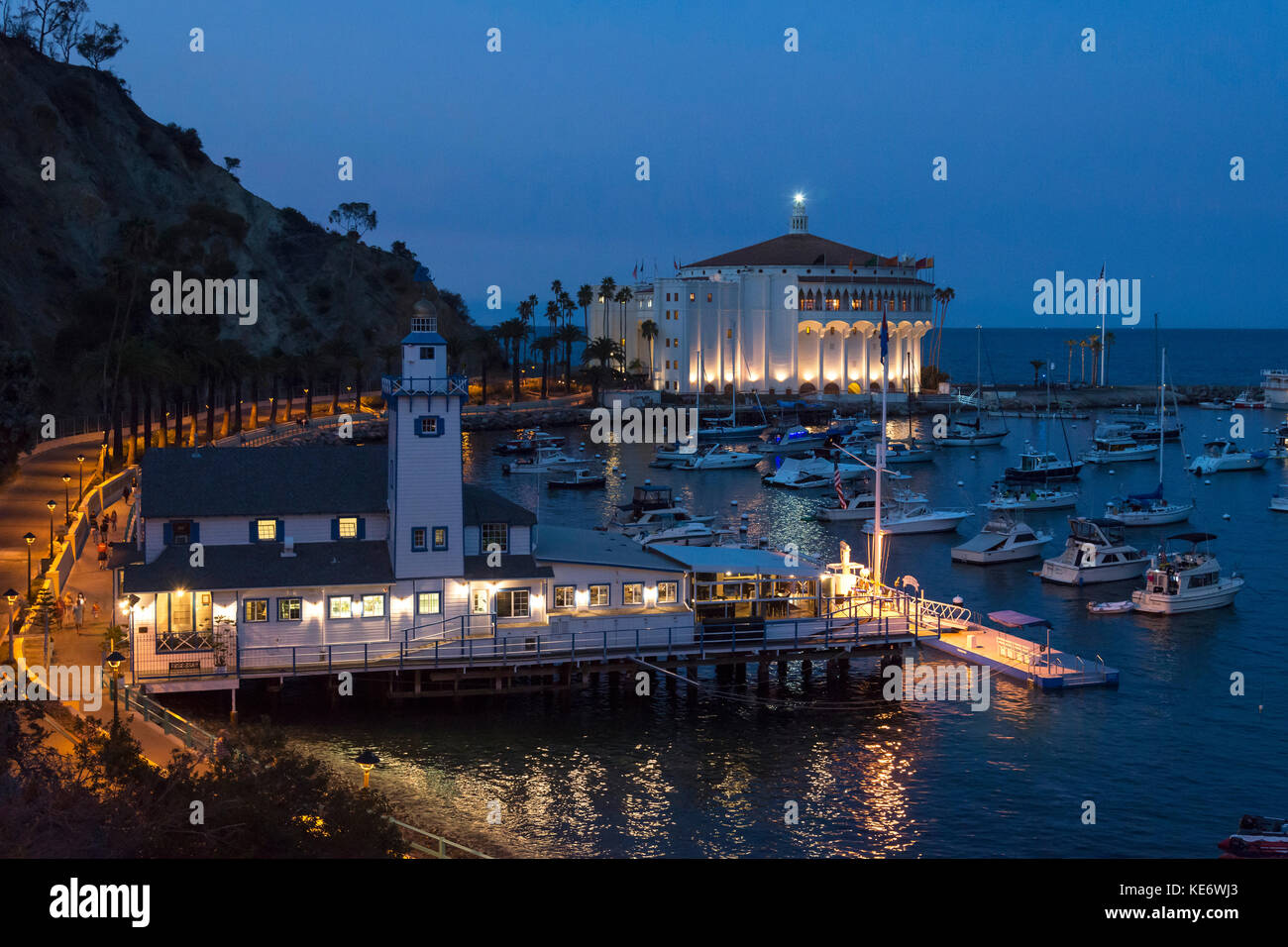 Avalon Harbour, Catalina Island, California, USA - Stock Image