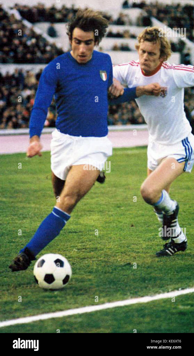Francesco Graziani, Italia Lussemburgo 3 0, 3 dicembre 1977 Stock Photo