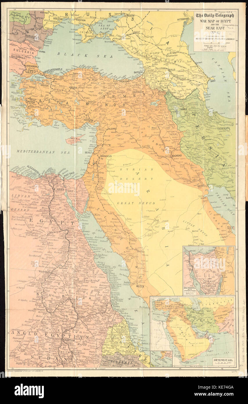 Picture of: The Daily Telegraph War Map Of Egypt And The Near East No 6 Stock Photo Alamy