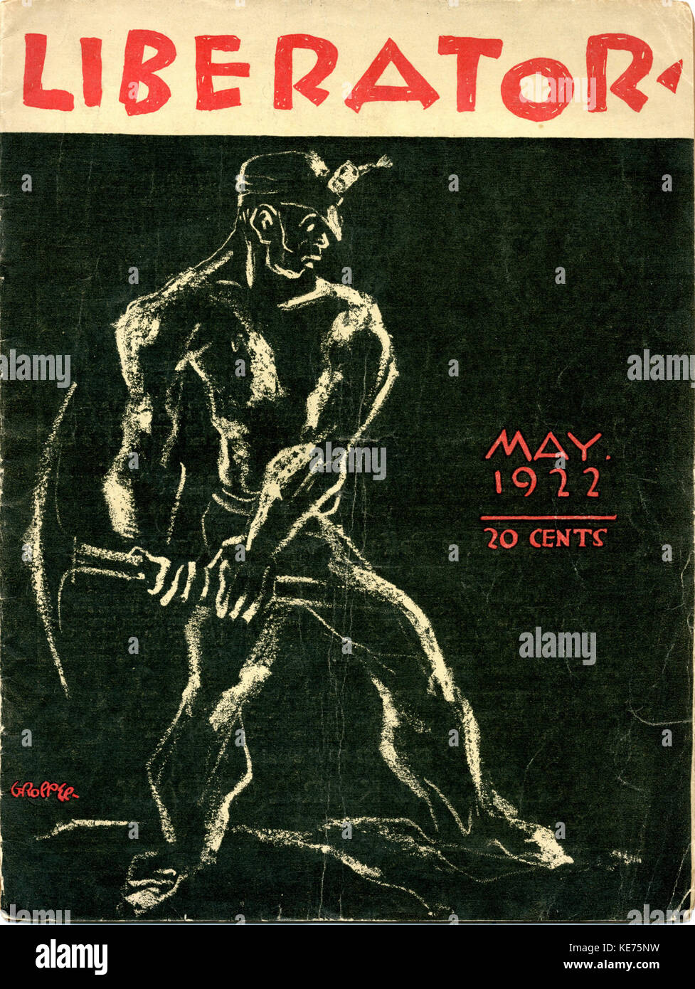 V5n05 w50 may 1922 liberator hrcover - Stock Image