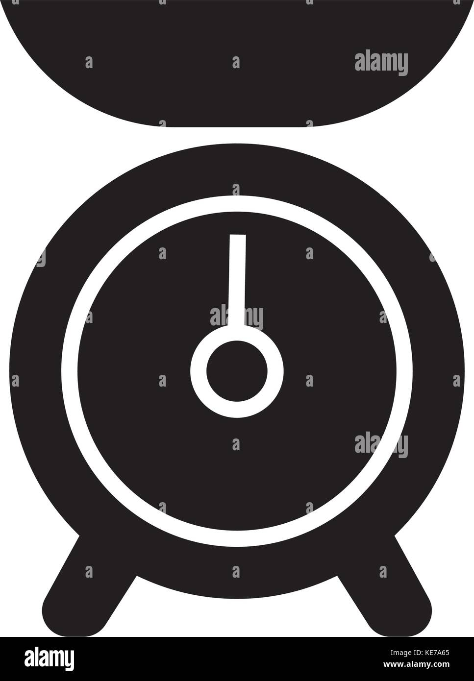 weight kitchen icon, vector illustration, black sign on isolated background - Stock Image