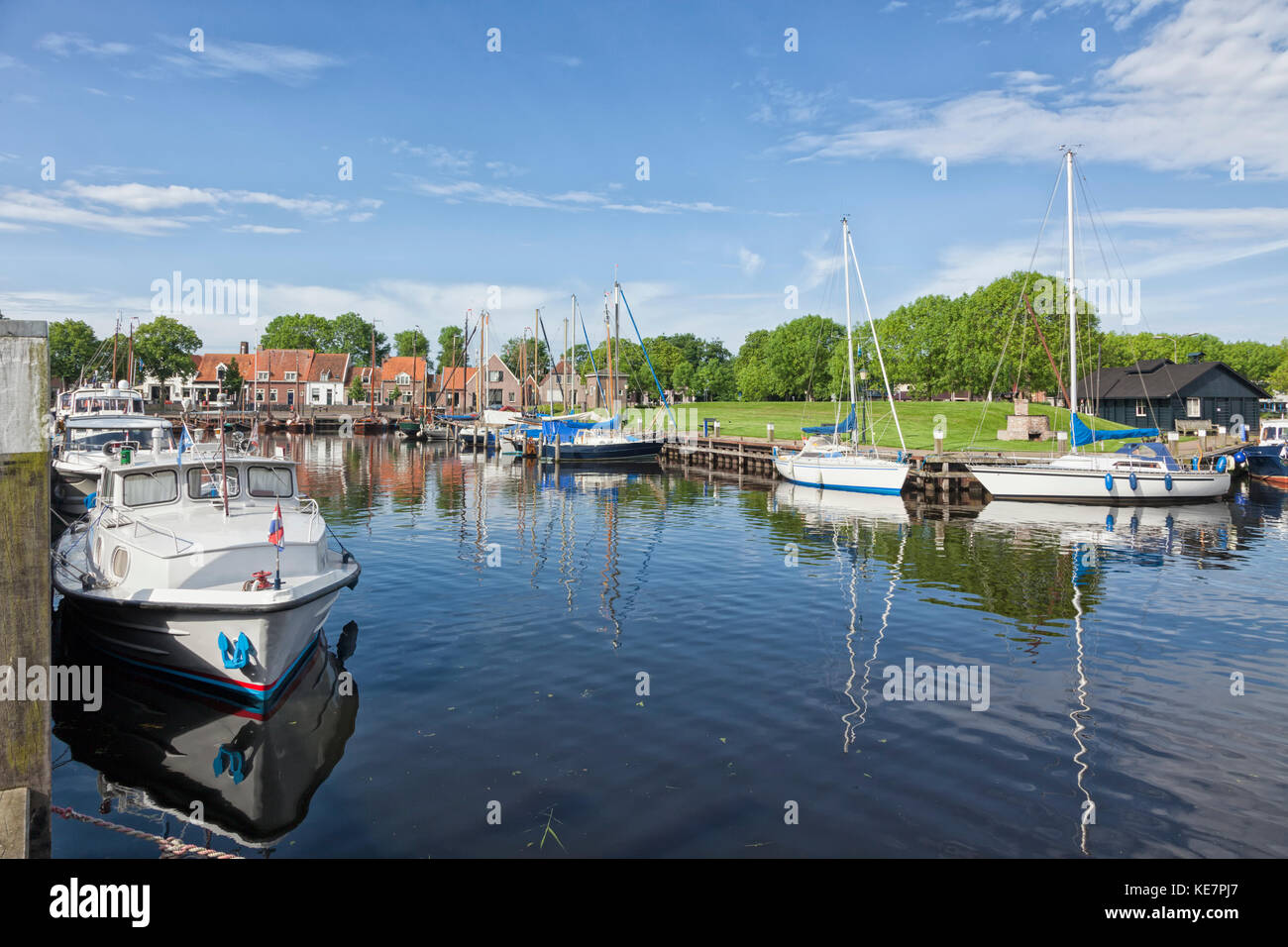 Harbor of Elburg, The Netherlands - Stock Image