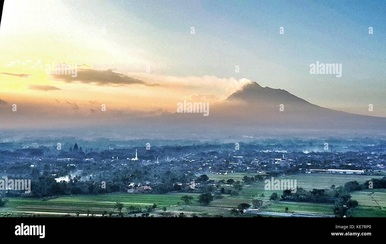 Merapi Mountain - Stock Image
