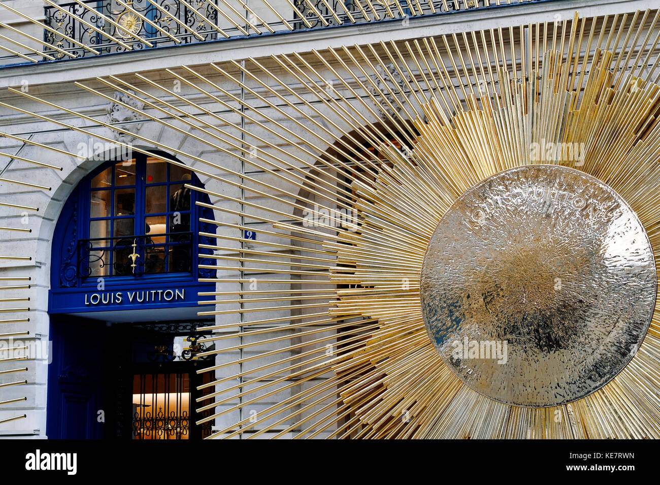 Louis Vuitton flagship store, place Vendôme, Paris - France - Stock Image