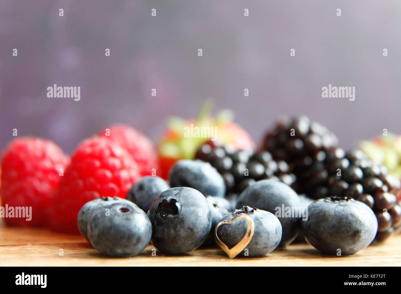 Gotta love berries - Stock Image