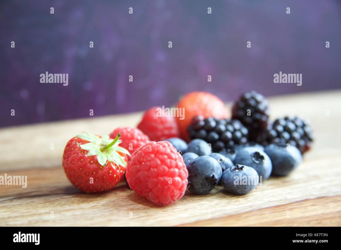 Gotta love berries - Stock Image