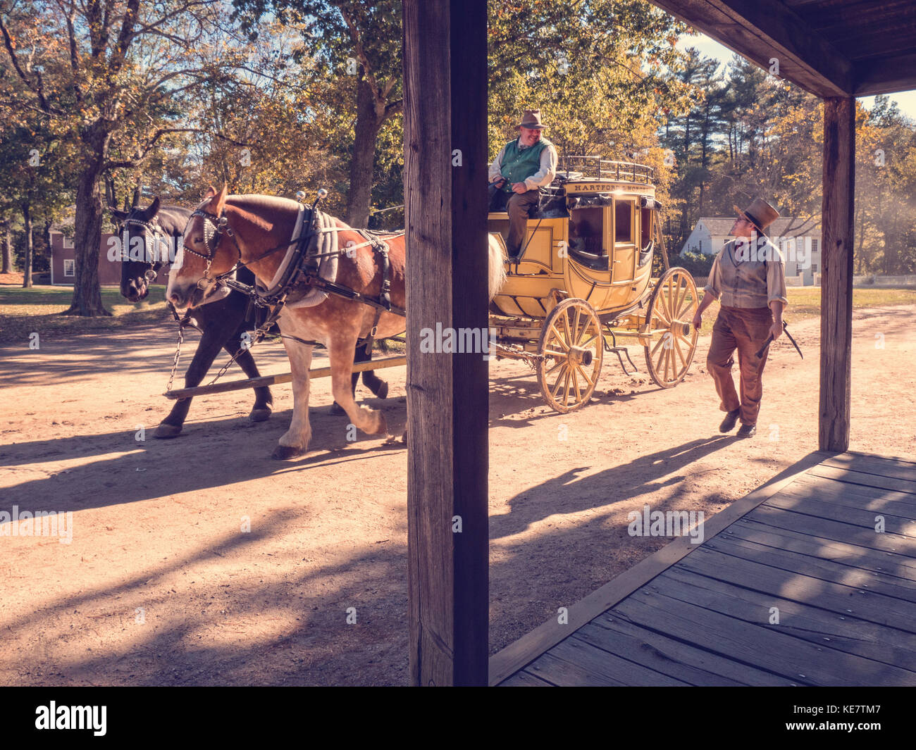 1830's American stage coach. - Stock Image