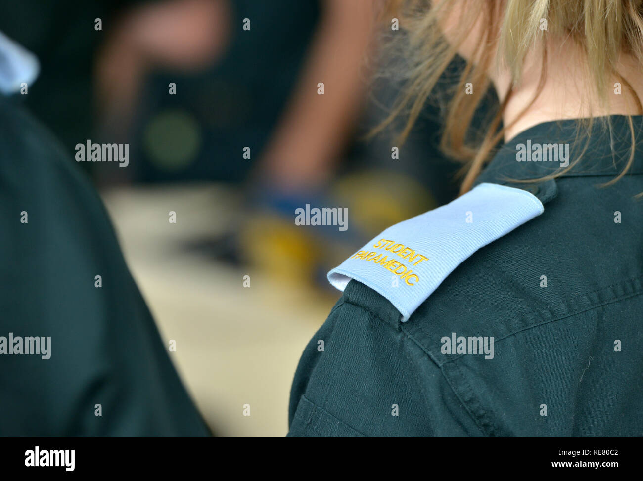 trainee ambulance paramedic Stock Photo