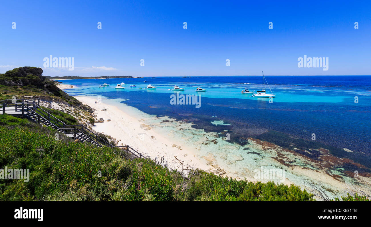Yachts moored at Parker Point - Stock Image