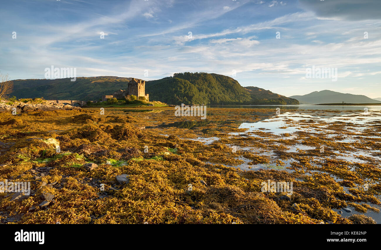 Eilean Donan Castle in the Scottish Highlands - Stock Image