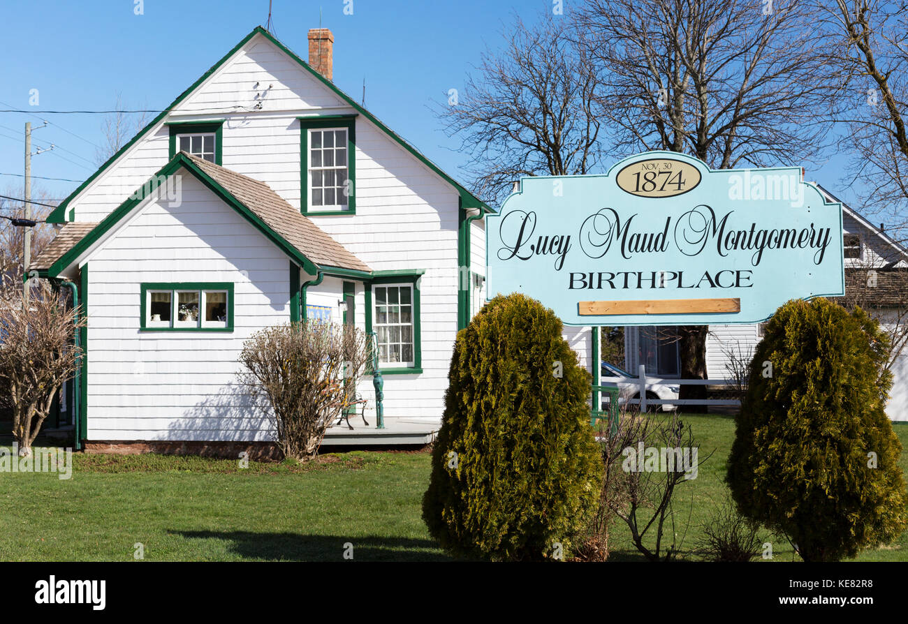 The Birthplace Of Lucy Maud Montgonery; New London, Prince Edward Island, Canada - Stock Image