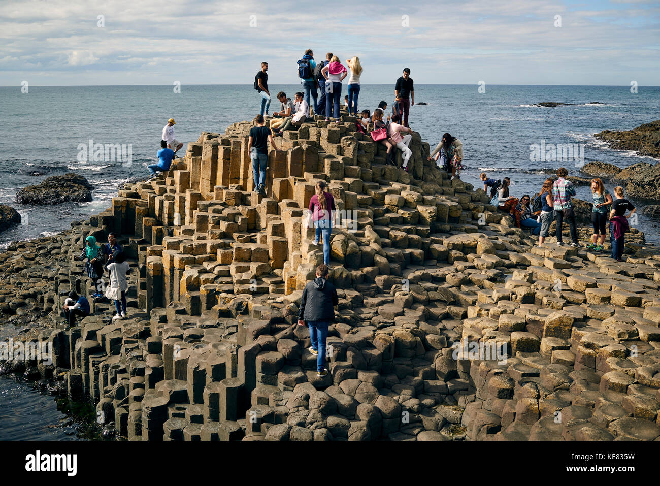 Giant's Causeway, Northern Ireland; Ireland - Stock Image