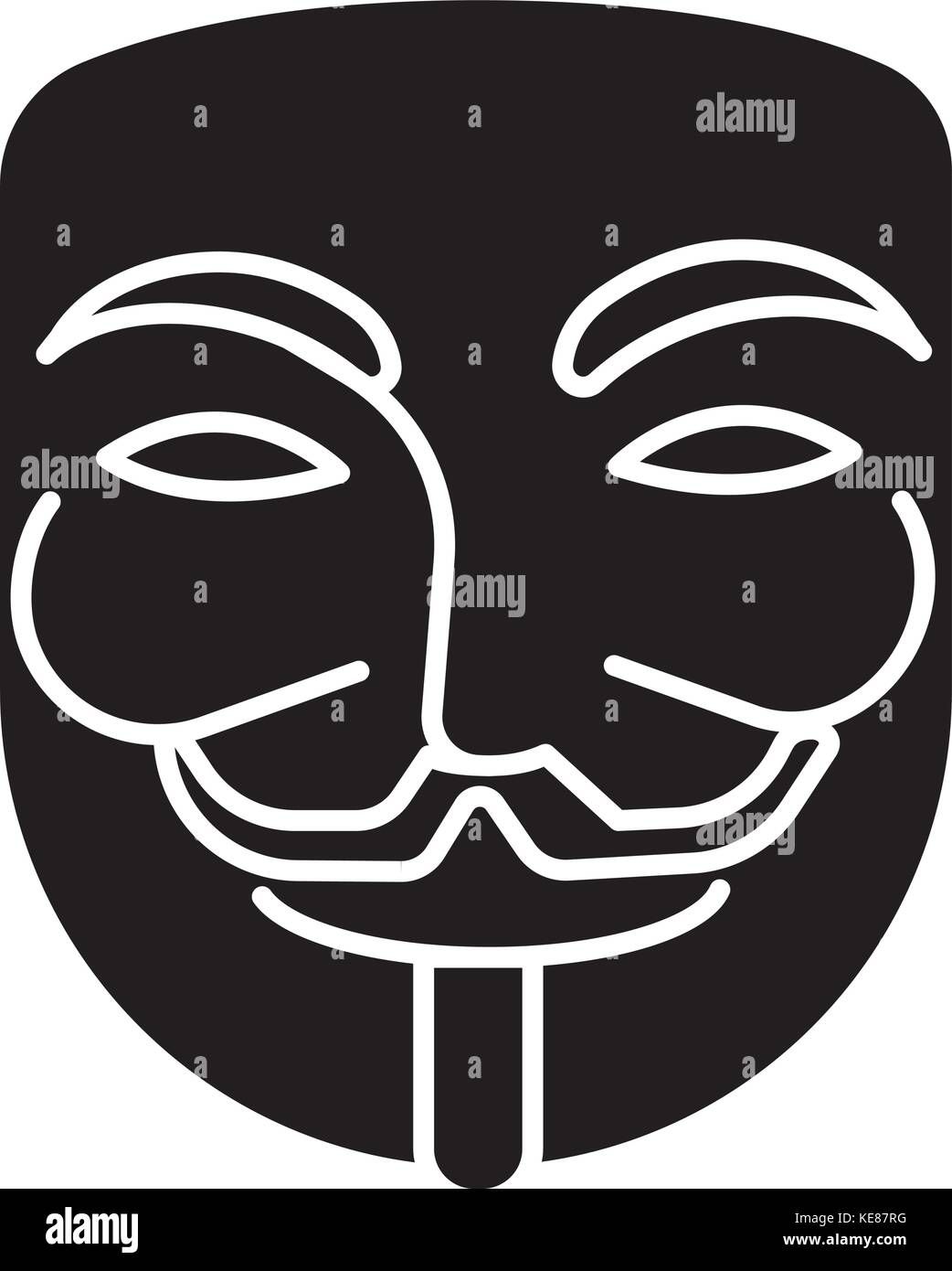 Anonymous Mask Carnival Hacker Icon Vector Illustration Black Stock Vector Image Art Alamy