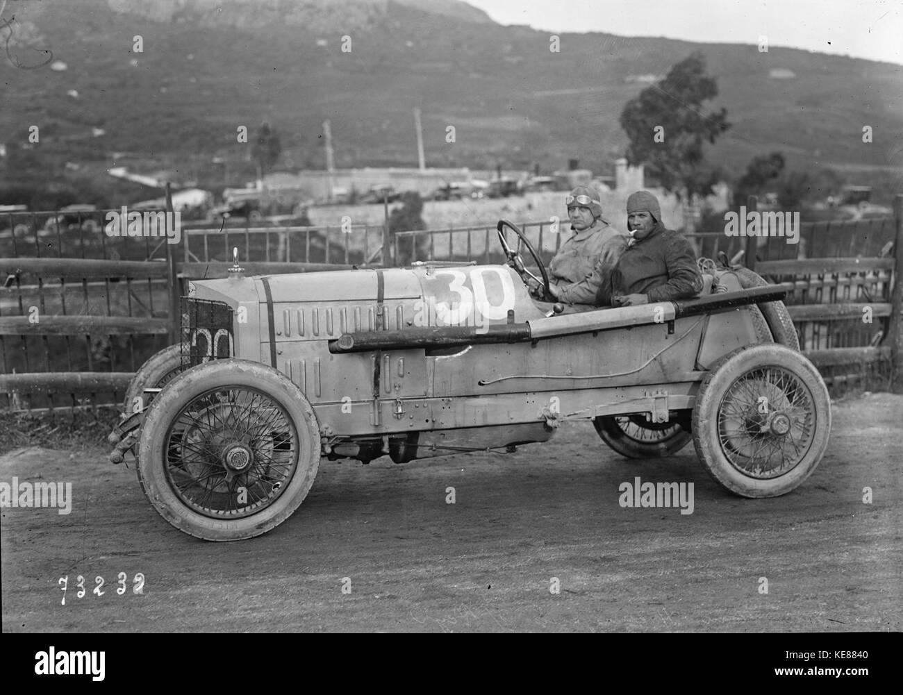 Otto Hieronimus in his Steyr at the 1922 Targa Florio (2) Stock Photo