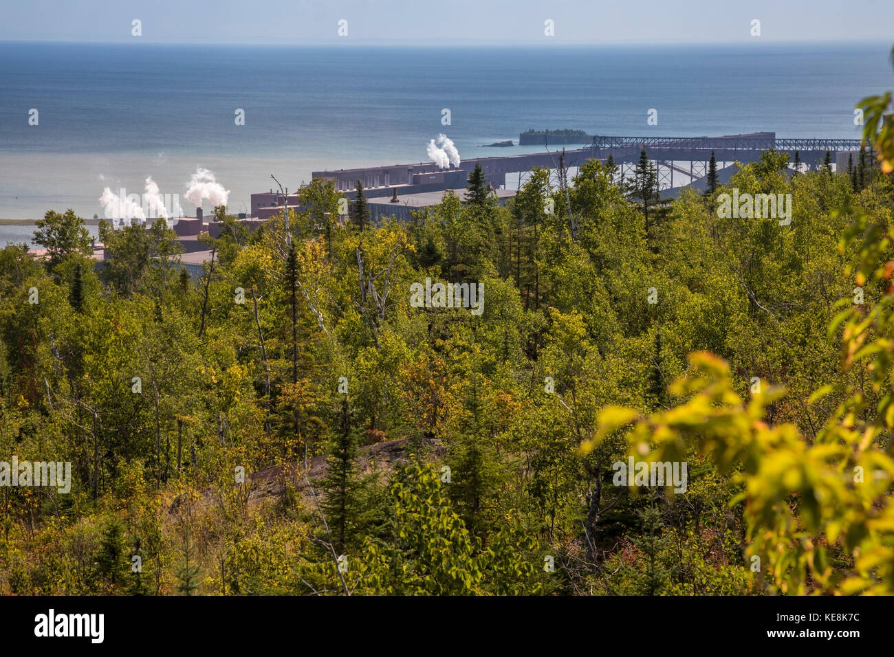 Silver Bay, Minnesota - Northshore Mining's taconite processing plant on the shore of Lake Superior. The plant - Stock Image