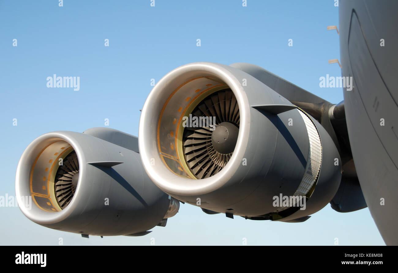 Turbojet Engines Stock Photos Images Alamy 747 Jet Engine Diagram Giant Of Modern Military Transport Plane Image