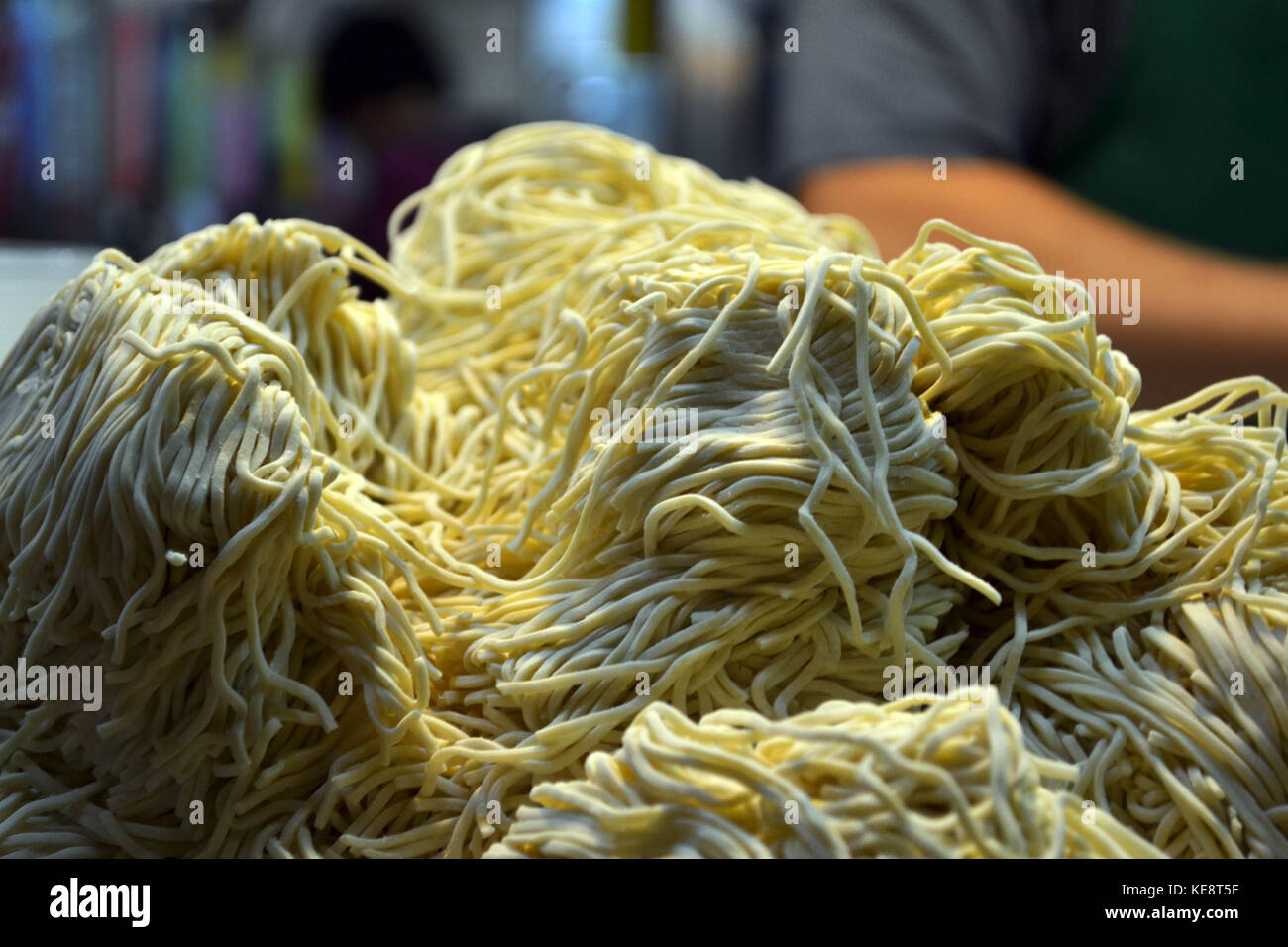'The noodle', taken at Kaohsiung's Liuhe nightmarket in July 2017 - Stock Image