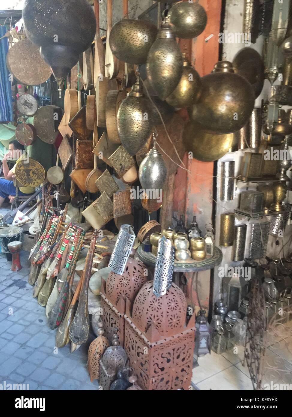 Souks Marrakesh - Stock Image