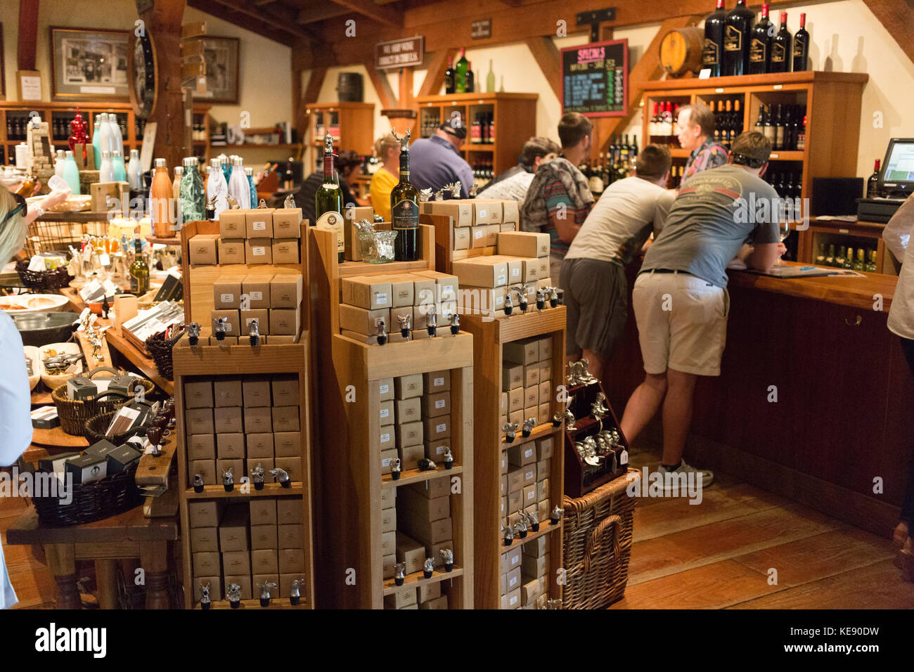 Gift shop in a Napa Valley winery