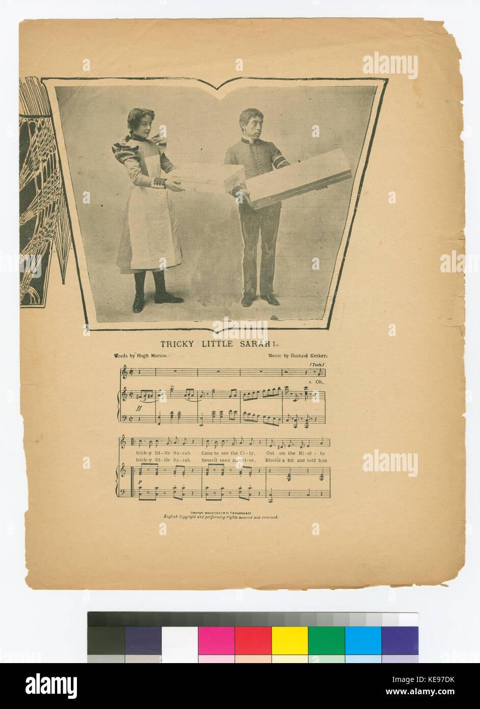 Tricky little Sarah (NYPL Hades 667908 1269153) - Stock Image