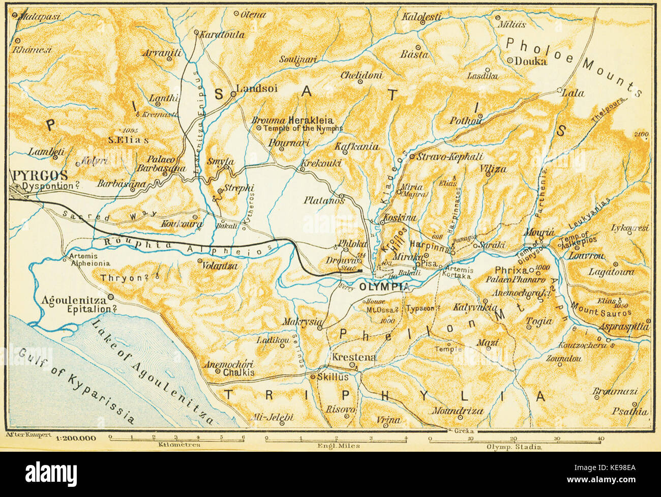 Map Of Olympia High Resolution Stock Photography and Images - Alamy