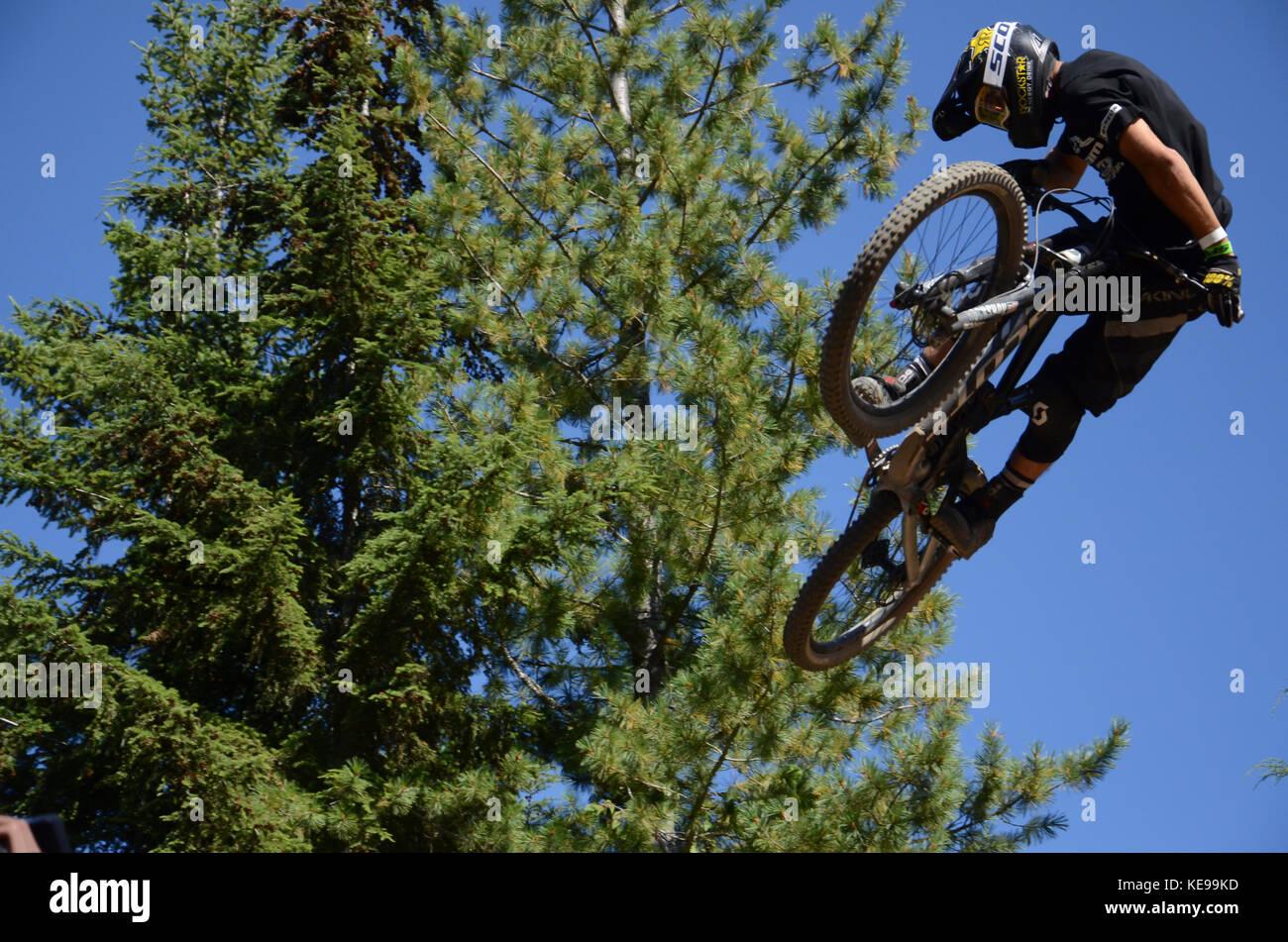Whip Off World Championships - Crankworx Whistler, BC, Canada  2017 - Stock Image