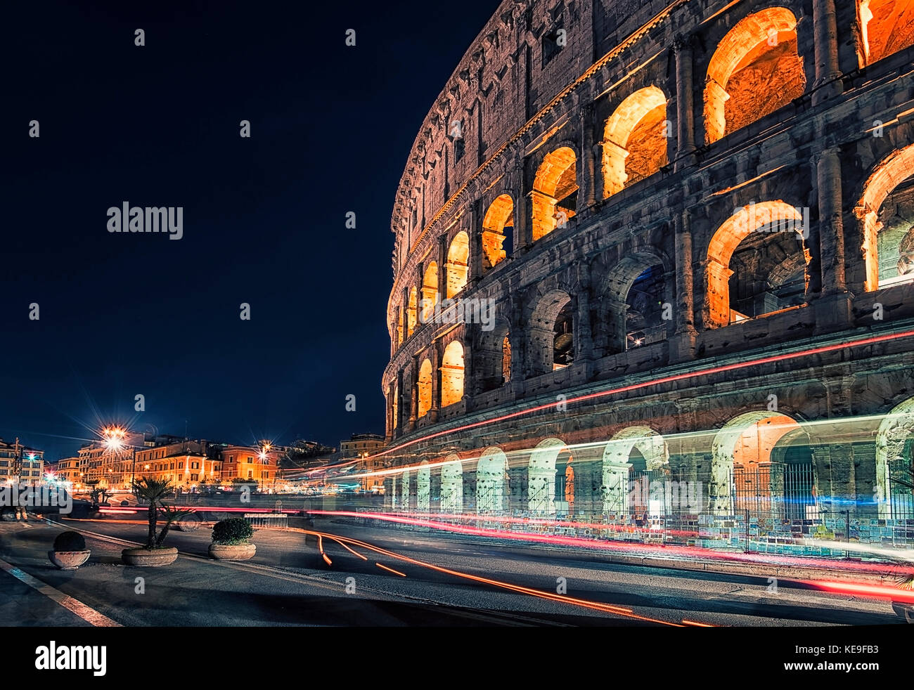 The Colosseum in Rome, Italy - Stock Image
