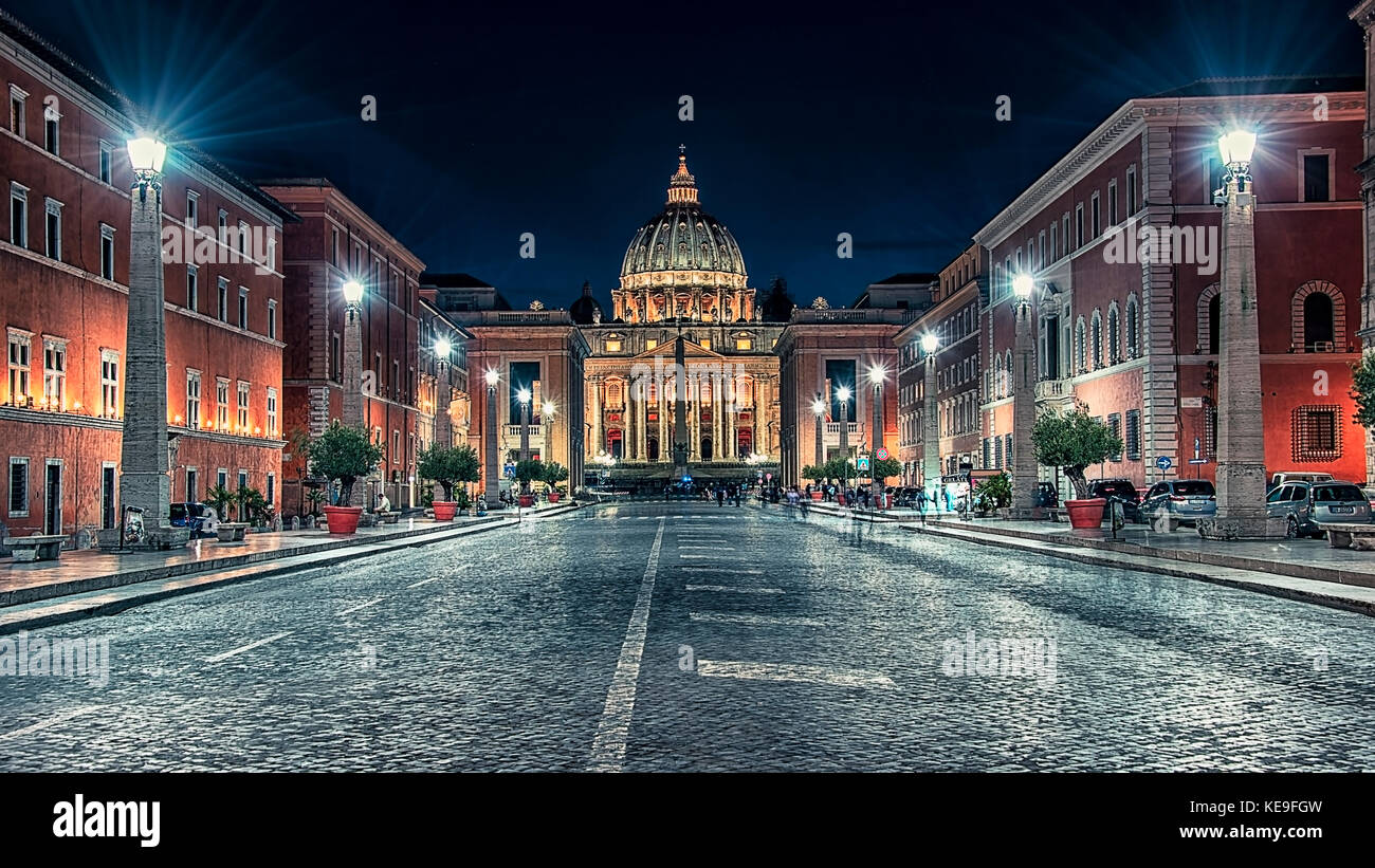St Peter's basilica in Rome - Stock Image