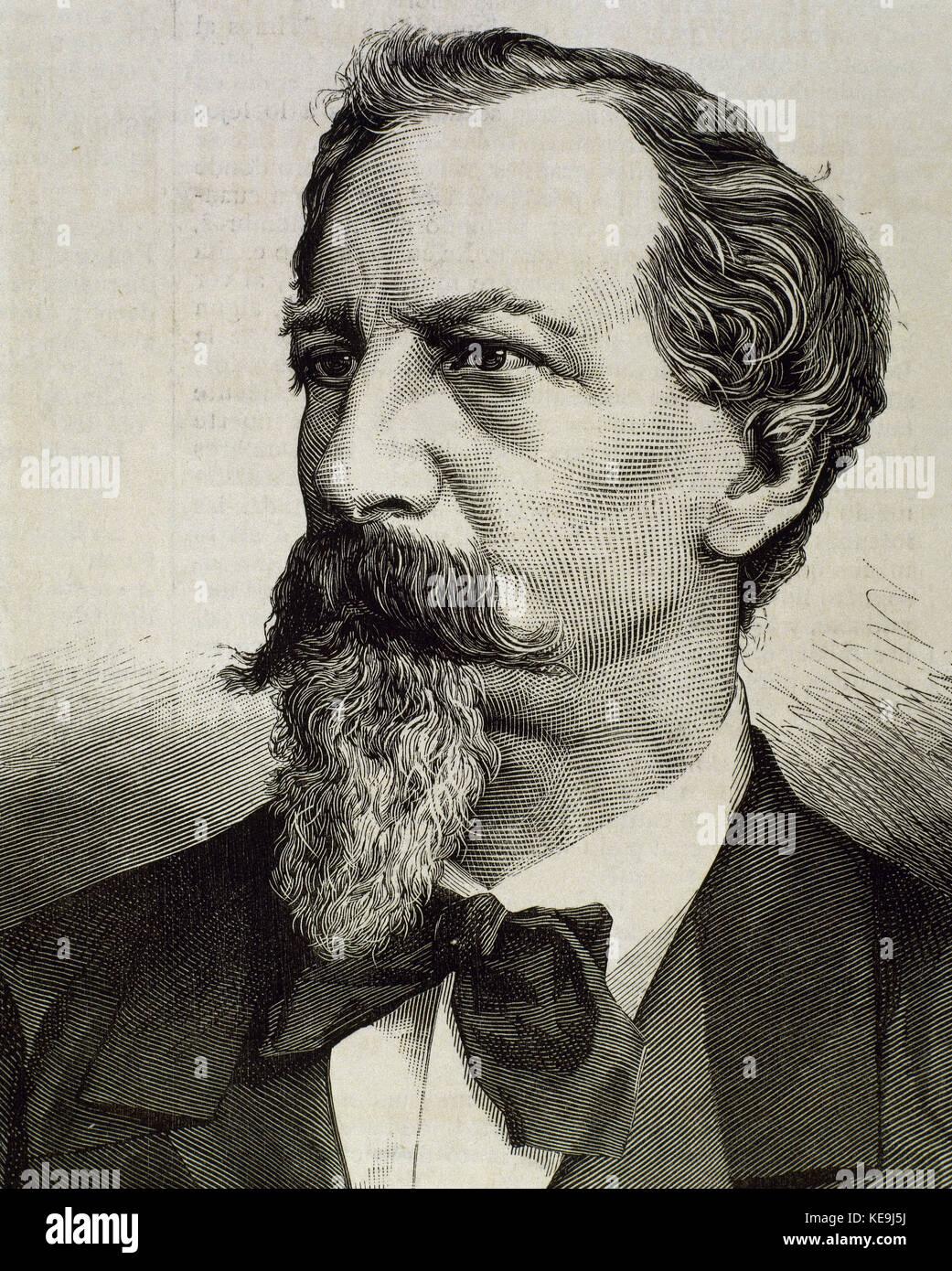 King Fernando II (Ferdinand II) of Portugal (Vienna,1816-Lisbon,1885) - Stock Image