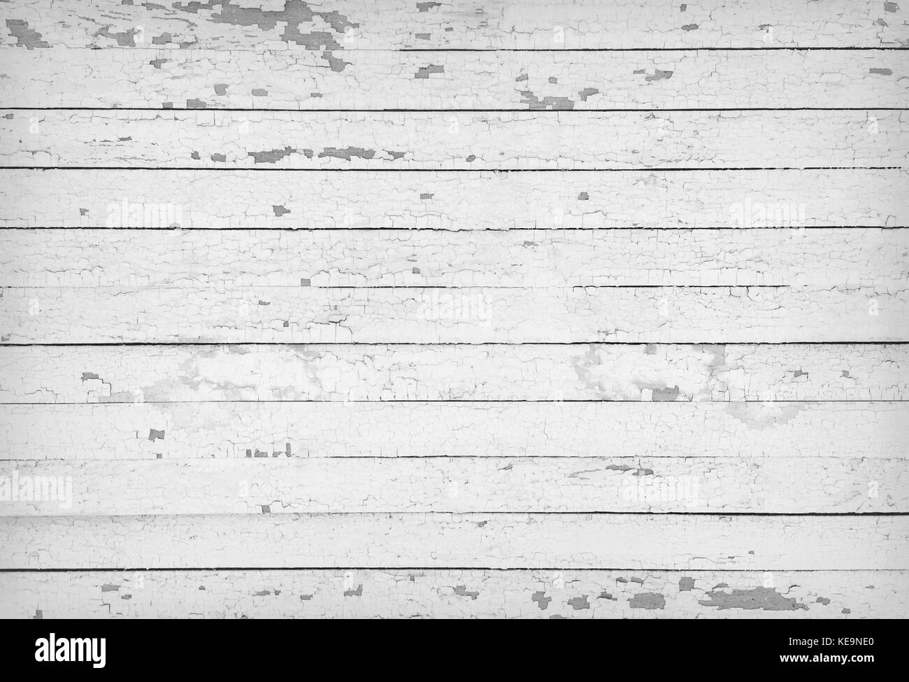 Black and white texture of wooden planks - Stock Image