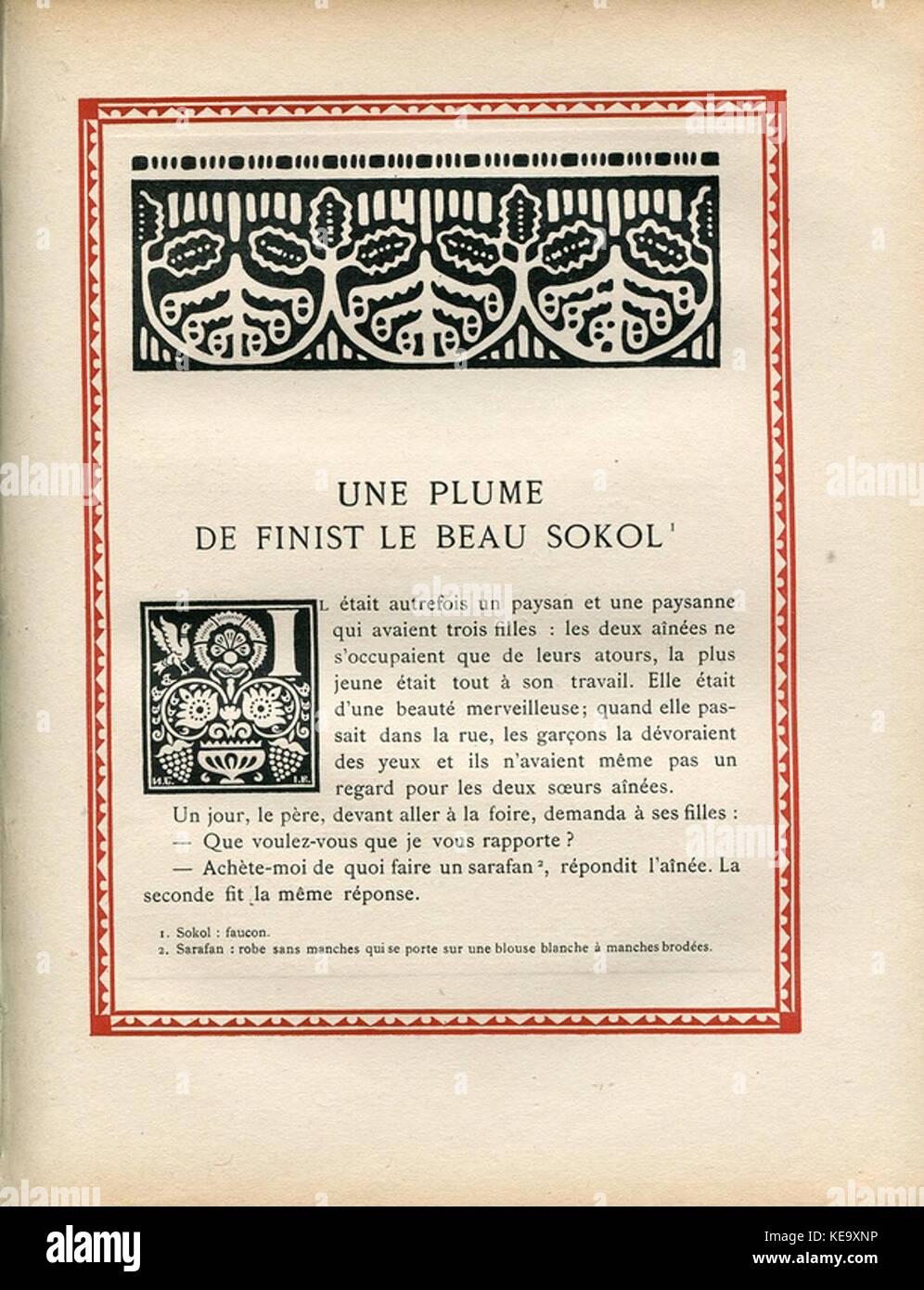 Contes de l'isba (1931)   Une plume de Finist le Beau Sokol 1 - Stock Image