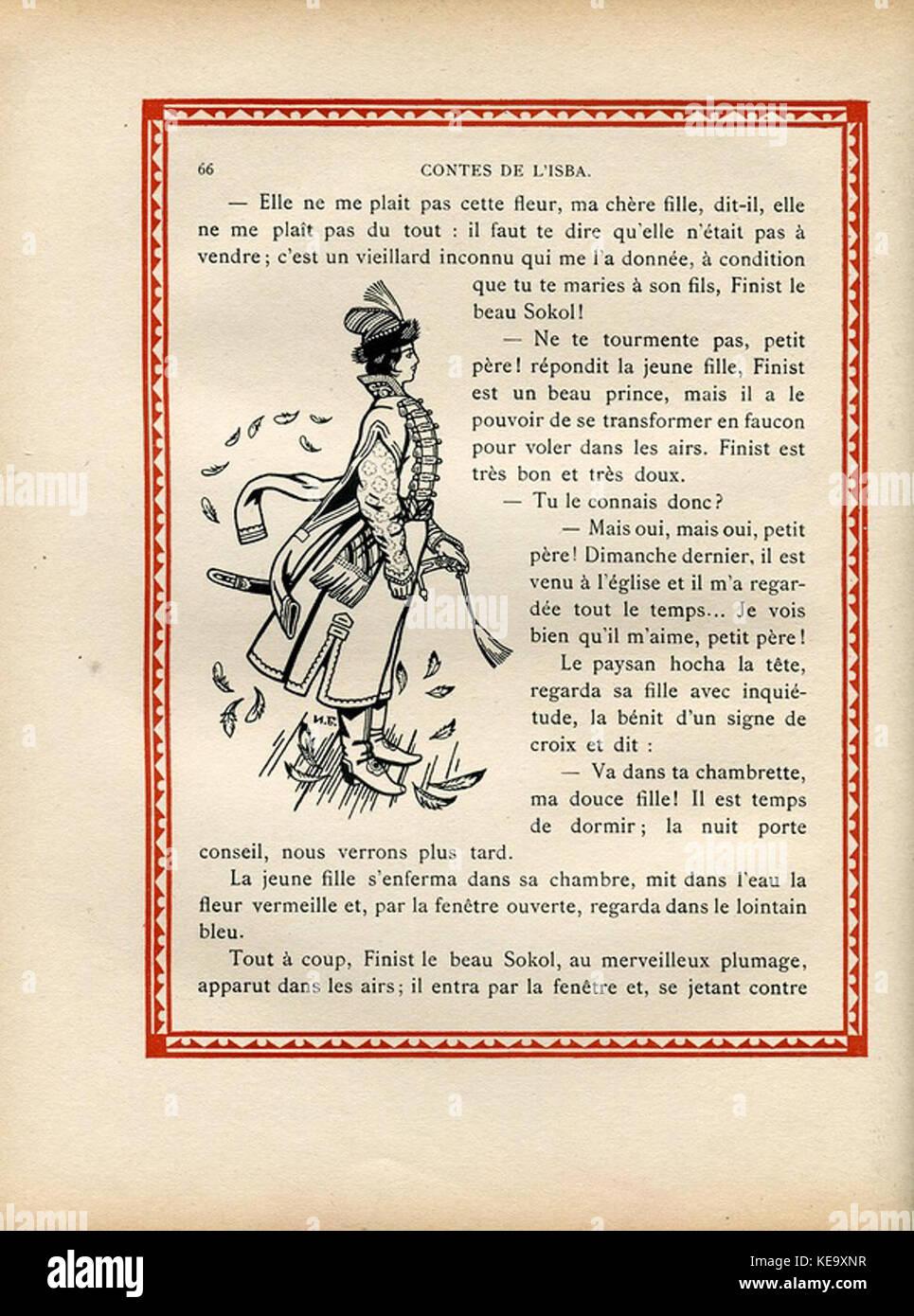 Contes de l'isba (1931)   Une plume de Finist le Beau Sokol 3 - Stock Image
