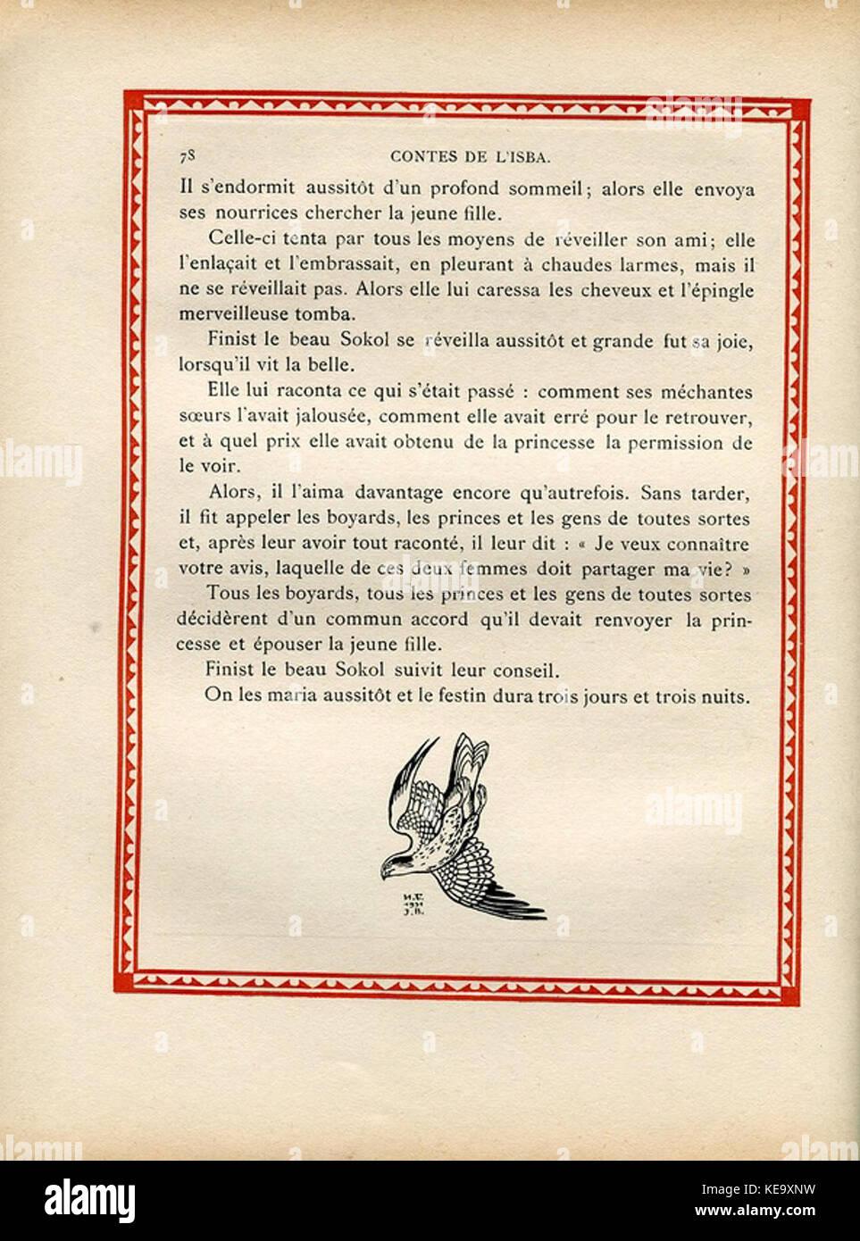 Contes de l'isba (1931)   Une plume de Finist le Beau Sokol 6 - Stock Image