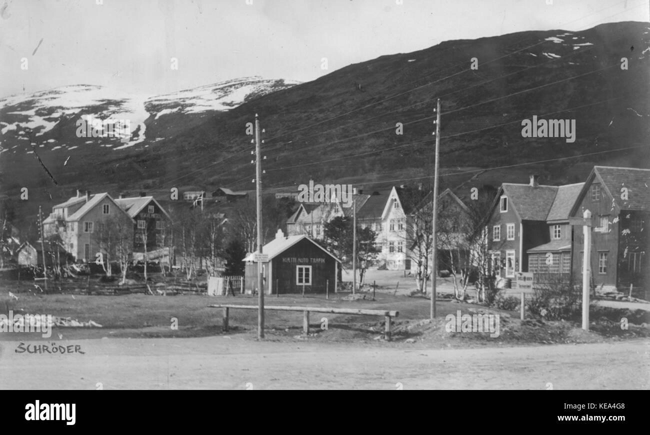 Oppdal sentrum old - Stock Image