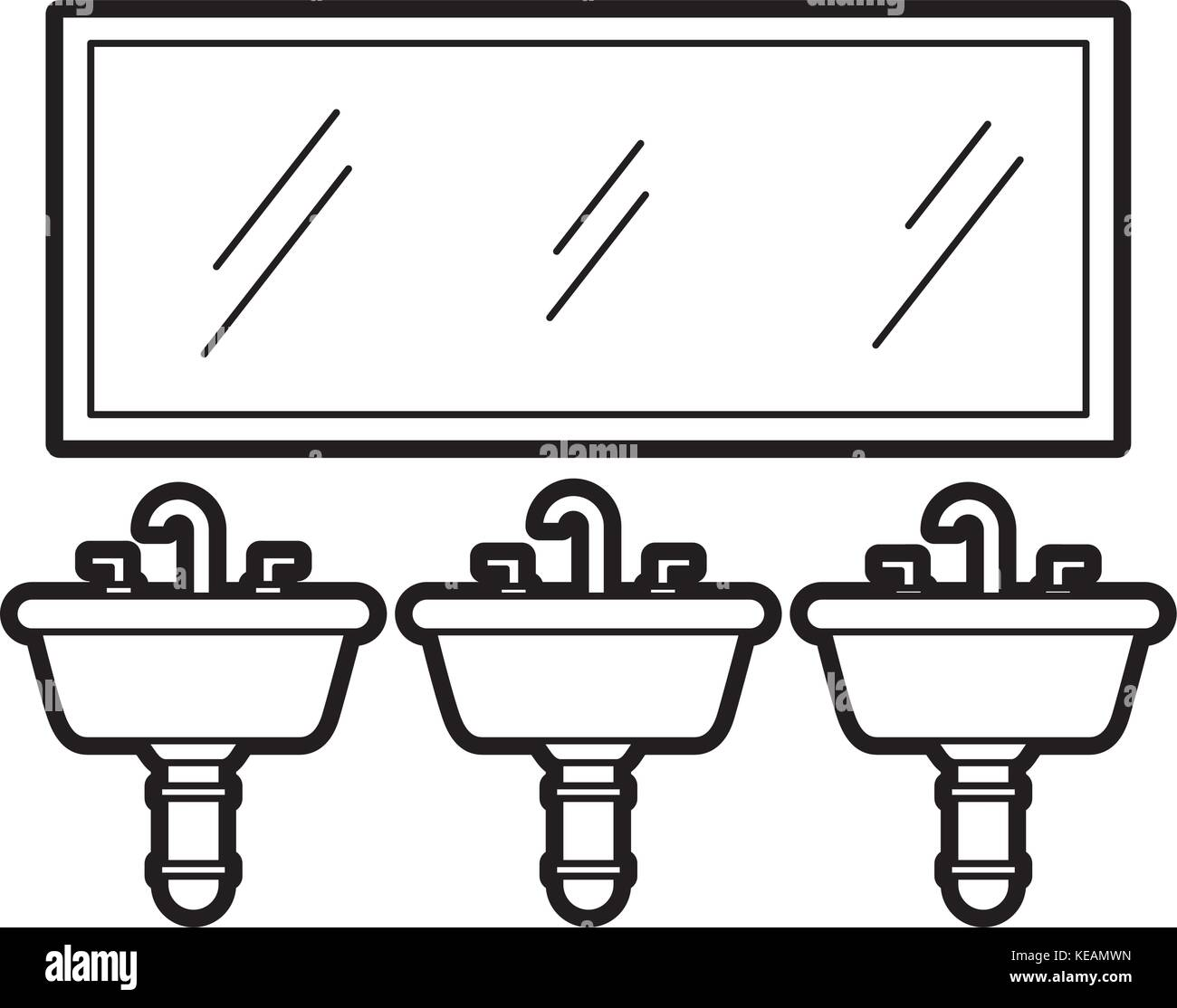 Public Toilet Black And White Stock Photos Images Alamy Hardware Block Diagram Of Free Download Wiring Three Sink Mirror For Bathroom Equipment Image