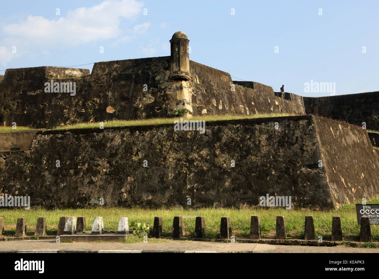 Galle Sri Lanka Galle Fort Moon Bastion - Stock Image